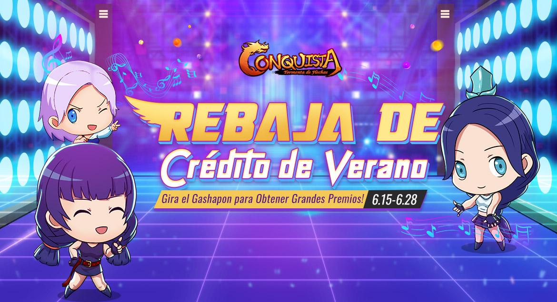 Conquista Online - Rebaja de crédito de verano