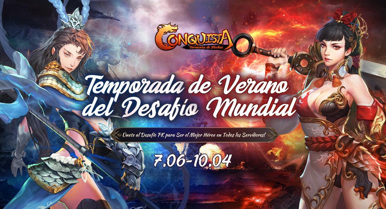 Conquista Online - Temporada de Verano del Desafío Mundial