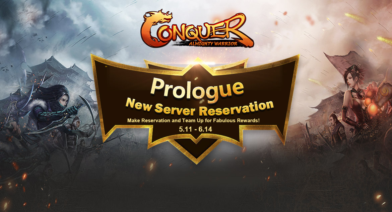 Conquer online - prologue New server reservation