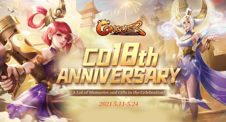 conquer online - 18 anniversary