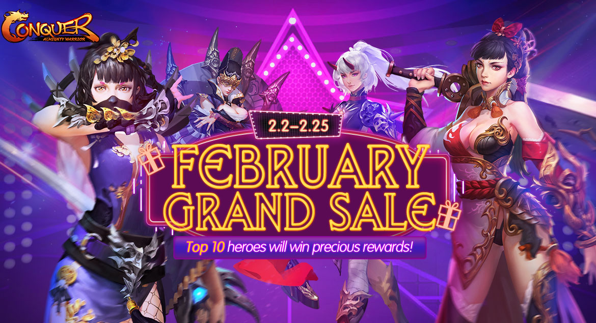 conquest online - february grand sale